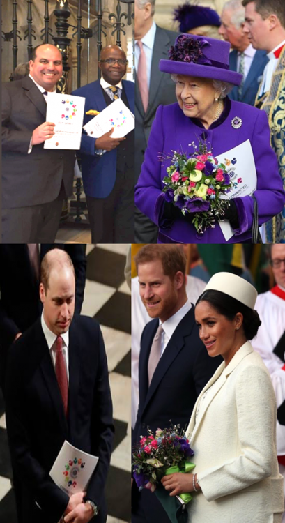 Queen Elizabeth II, Royals and guests at the London celebrations