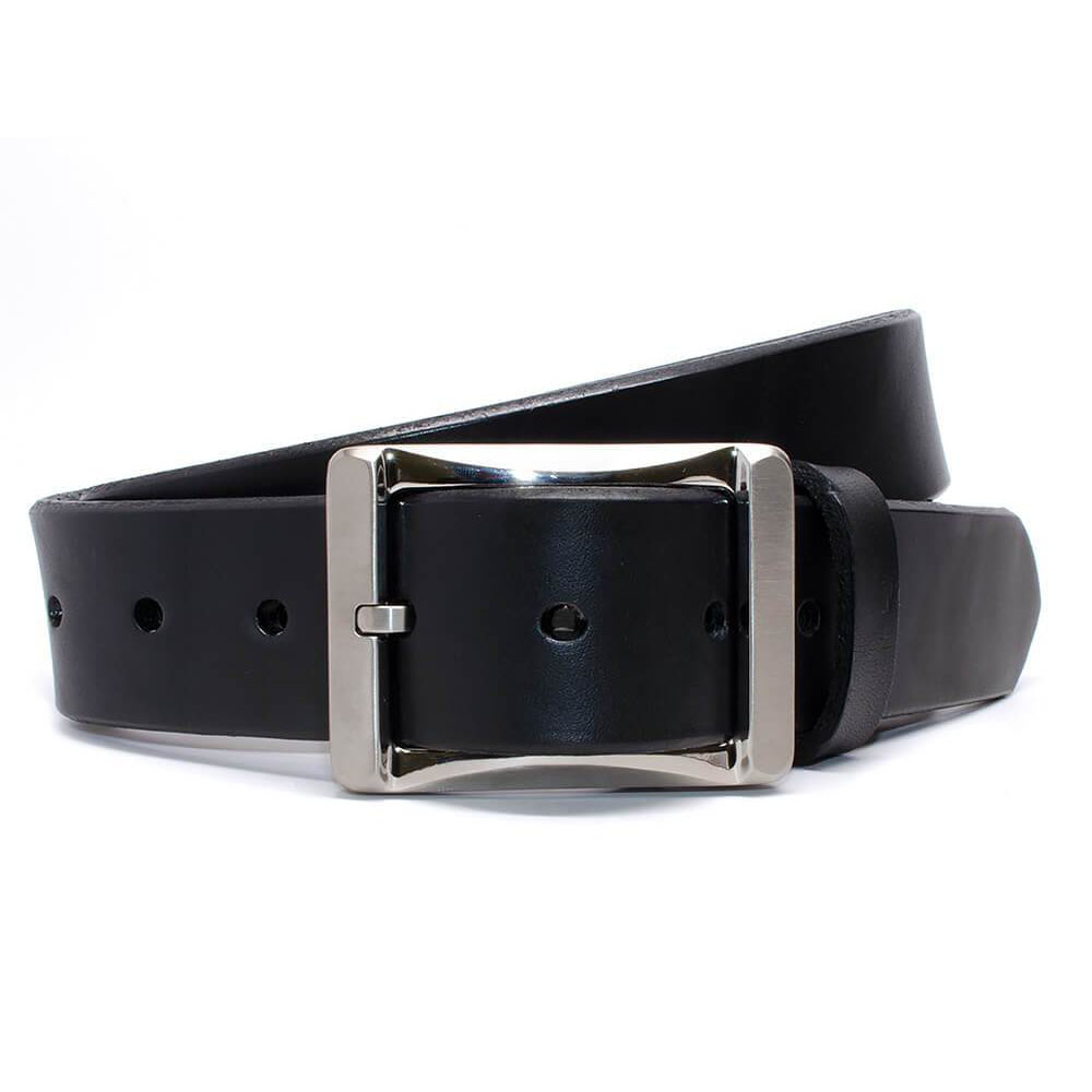 AJ's Gun Belt - titanium buckle, heavy leather