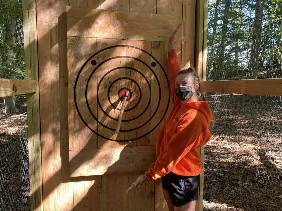 Axe Throwing at The Adventure Park