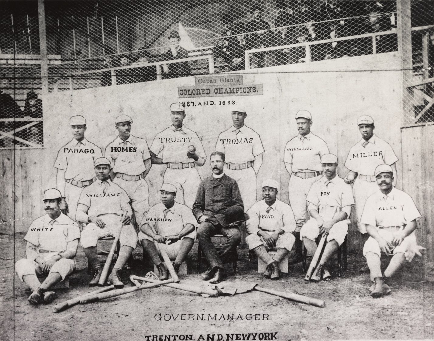 Cuban Giants, 1887–1888, photographer unknown, National Baseball Hall of Fame
