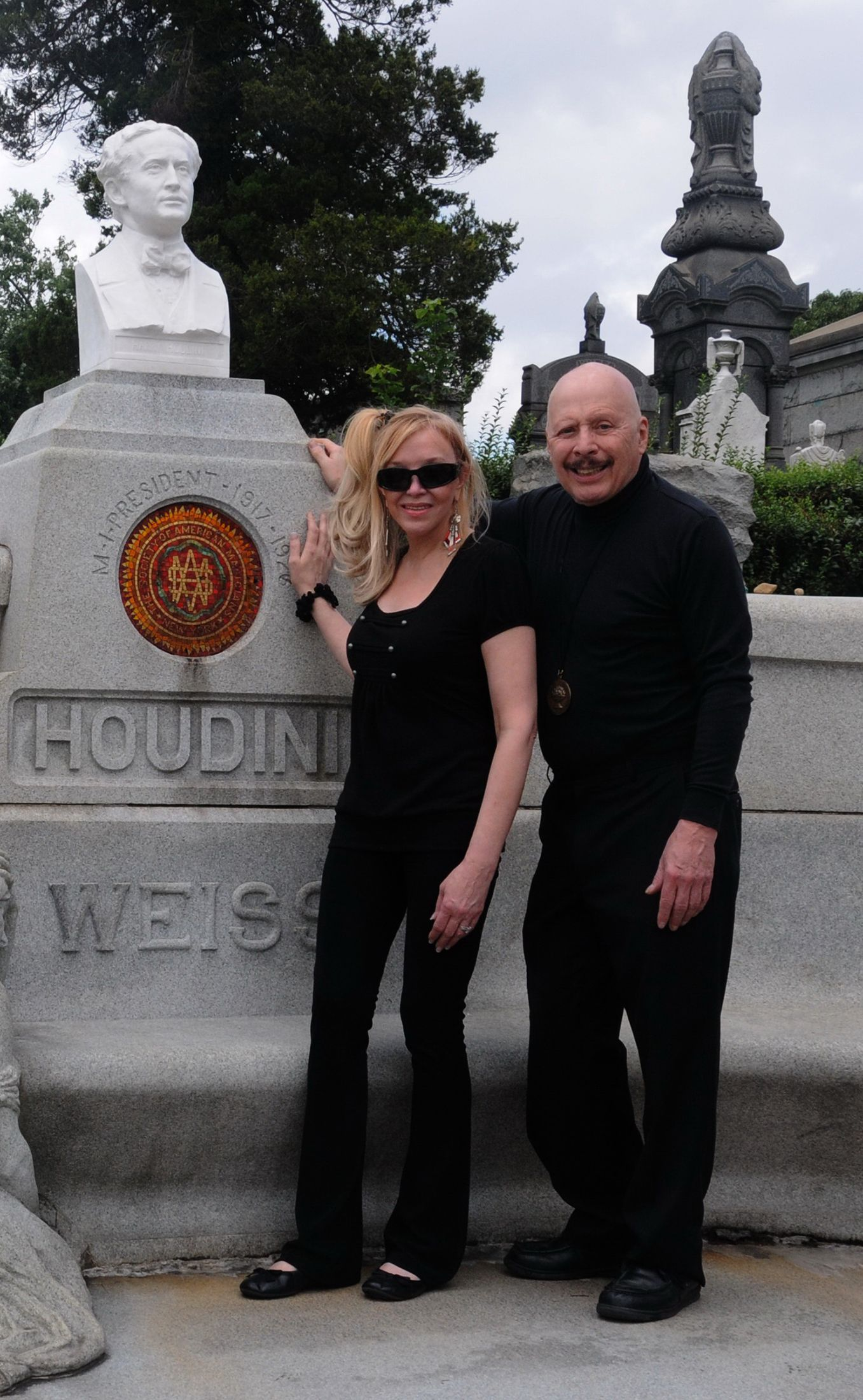 Dietrich and Brookz replaced vandalized Houdini bust at his grave. Cost $10,000