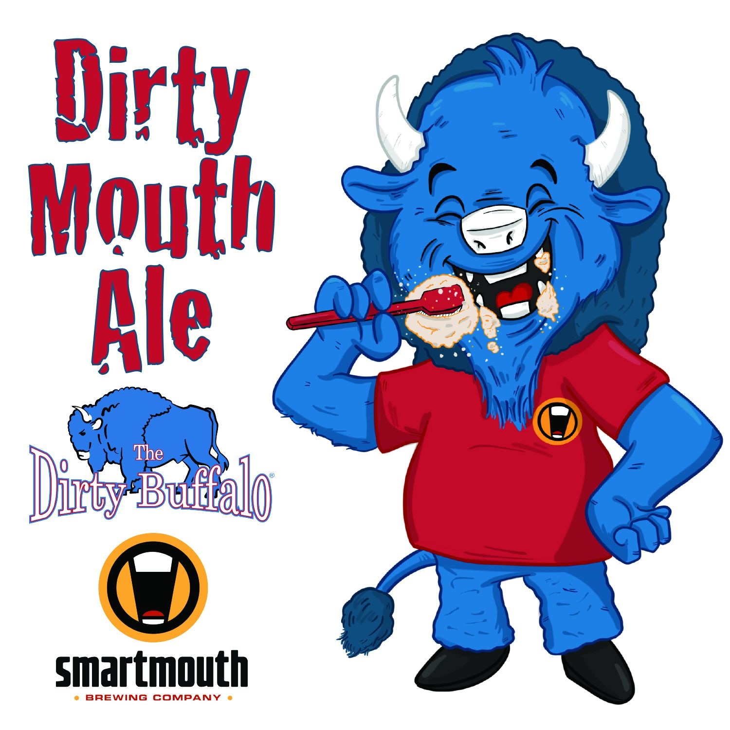 Dirty Mouth Buffalo Sticker