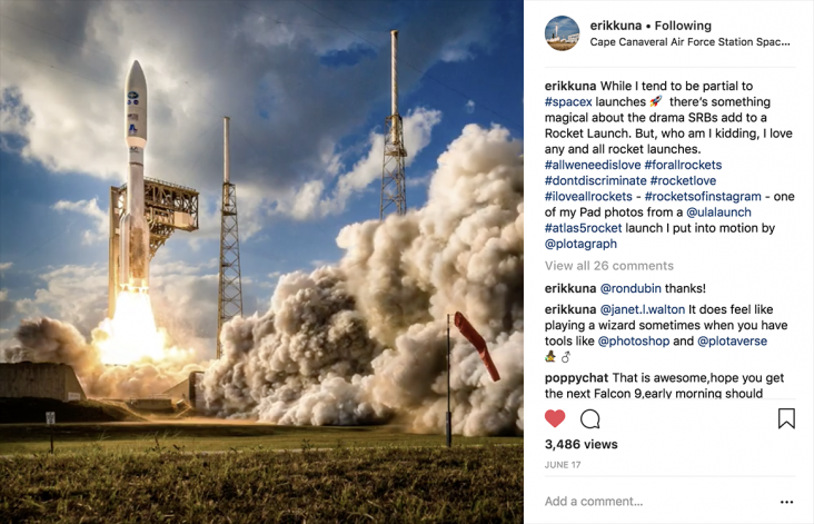 Erik Kuna's Plotagraph of SpaceX Falcon 9 Launch