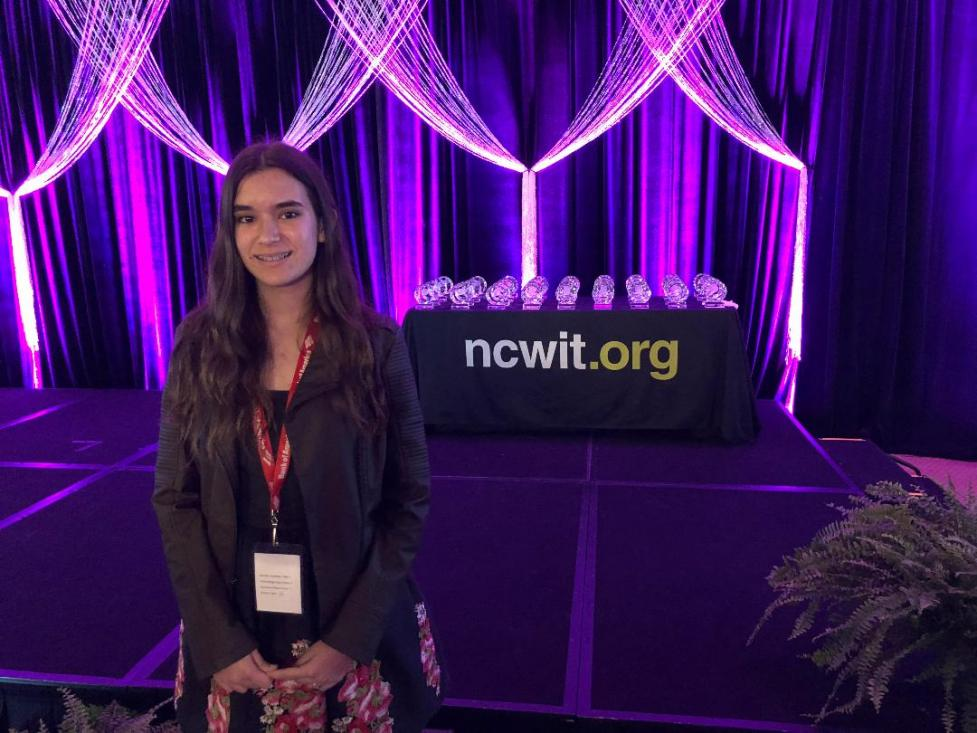 Gia Mar Ramos at NCWIT AiC National Winner Gala