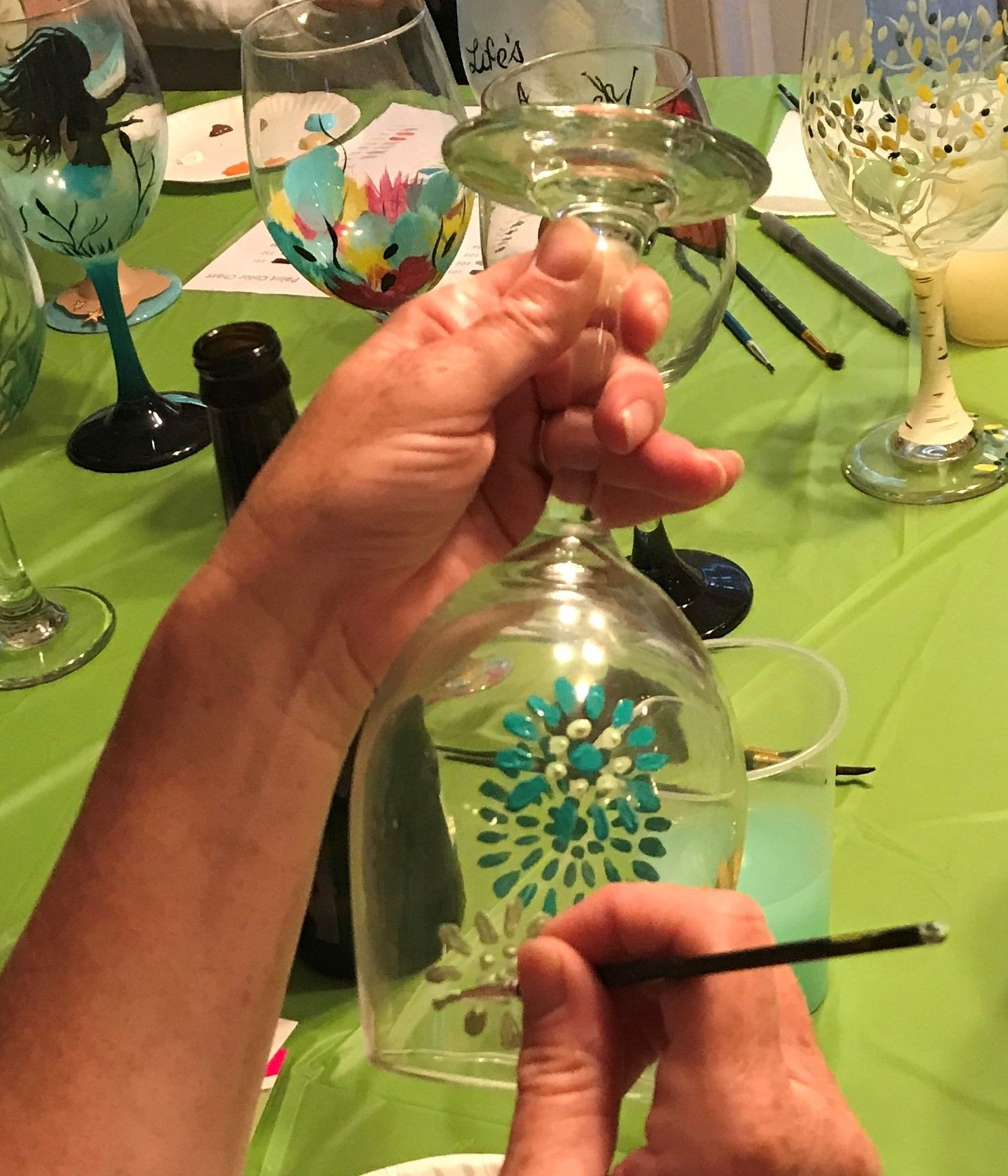 Glassware, Wood Painting and More
