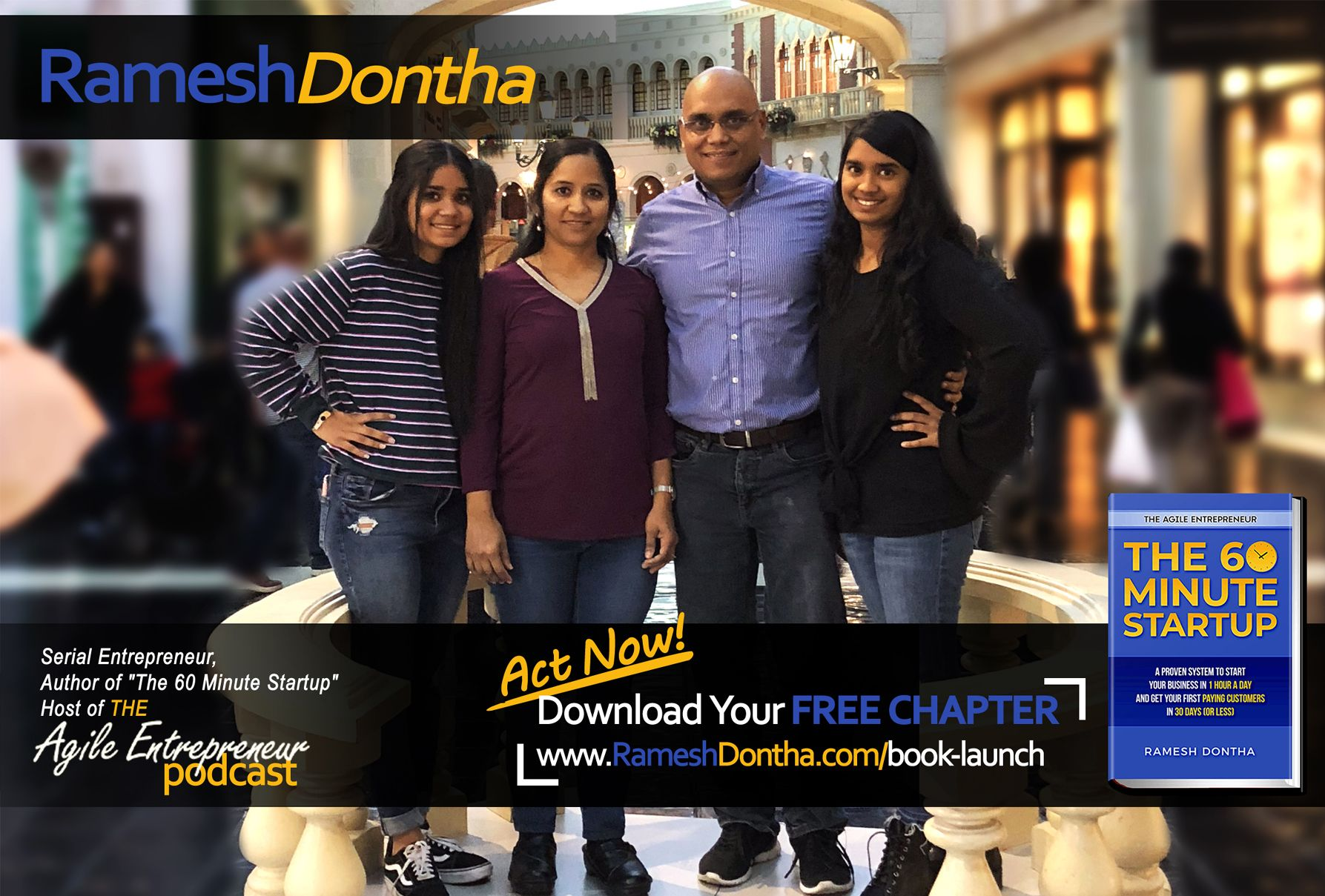 Megha and Ramesh Dontha -The 60 Minute Startup