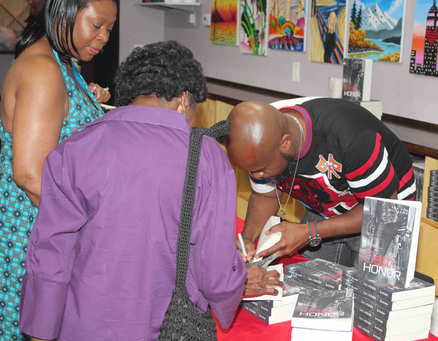Oath to Honor book signing in Harlem