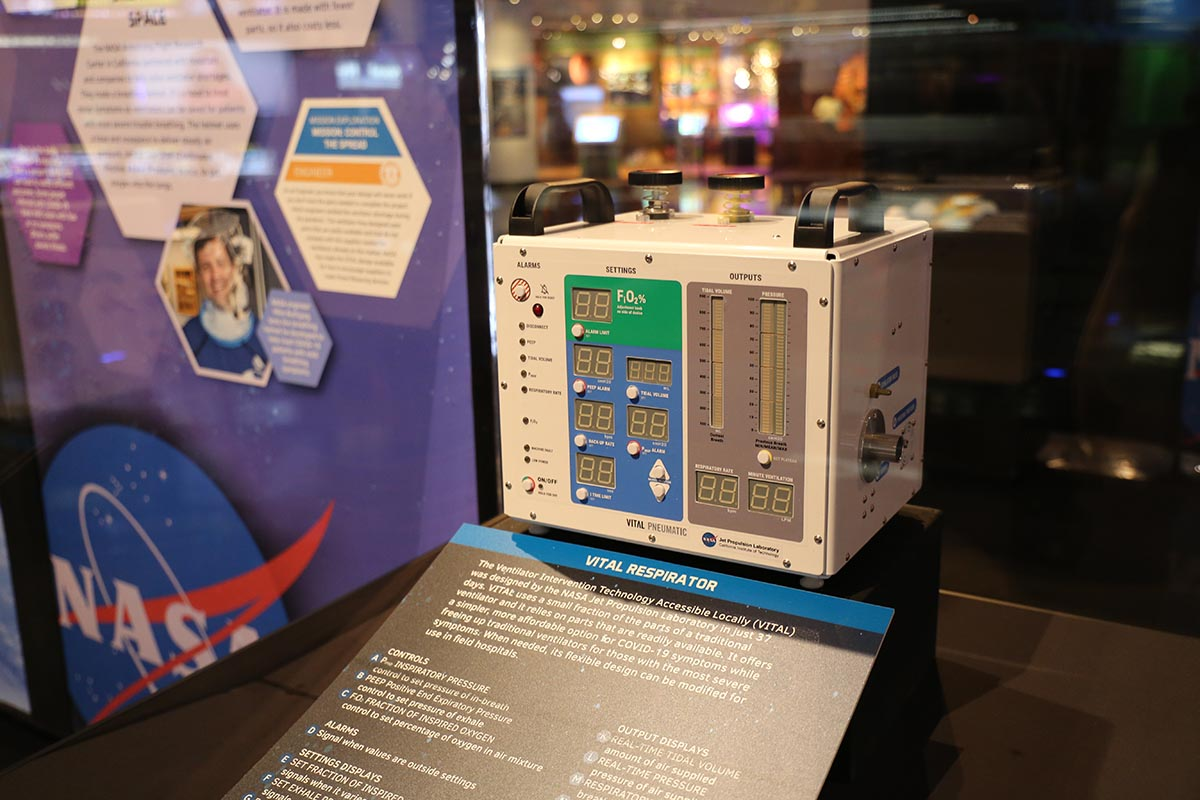 Photo Credit Space Center Houston VITAL Ventilator