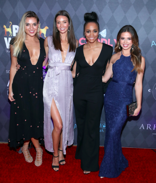 Rachel Lindsay & Bachelorette girls at Paw Works Ties & Tails Mardi Paws Gala