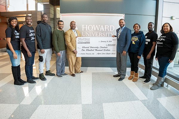 Rev. Dr. Howard-John Wesley, ASBC Ministers & Howard University Students