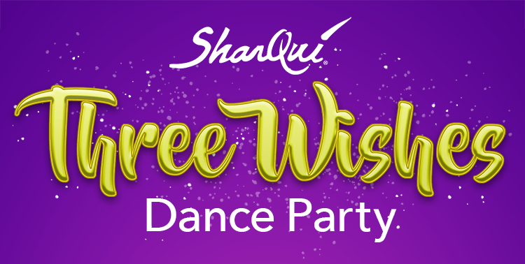 SharQui Three Wishes Event Logo