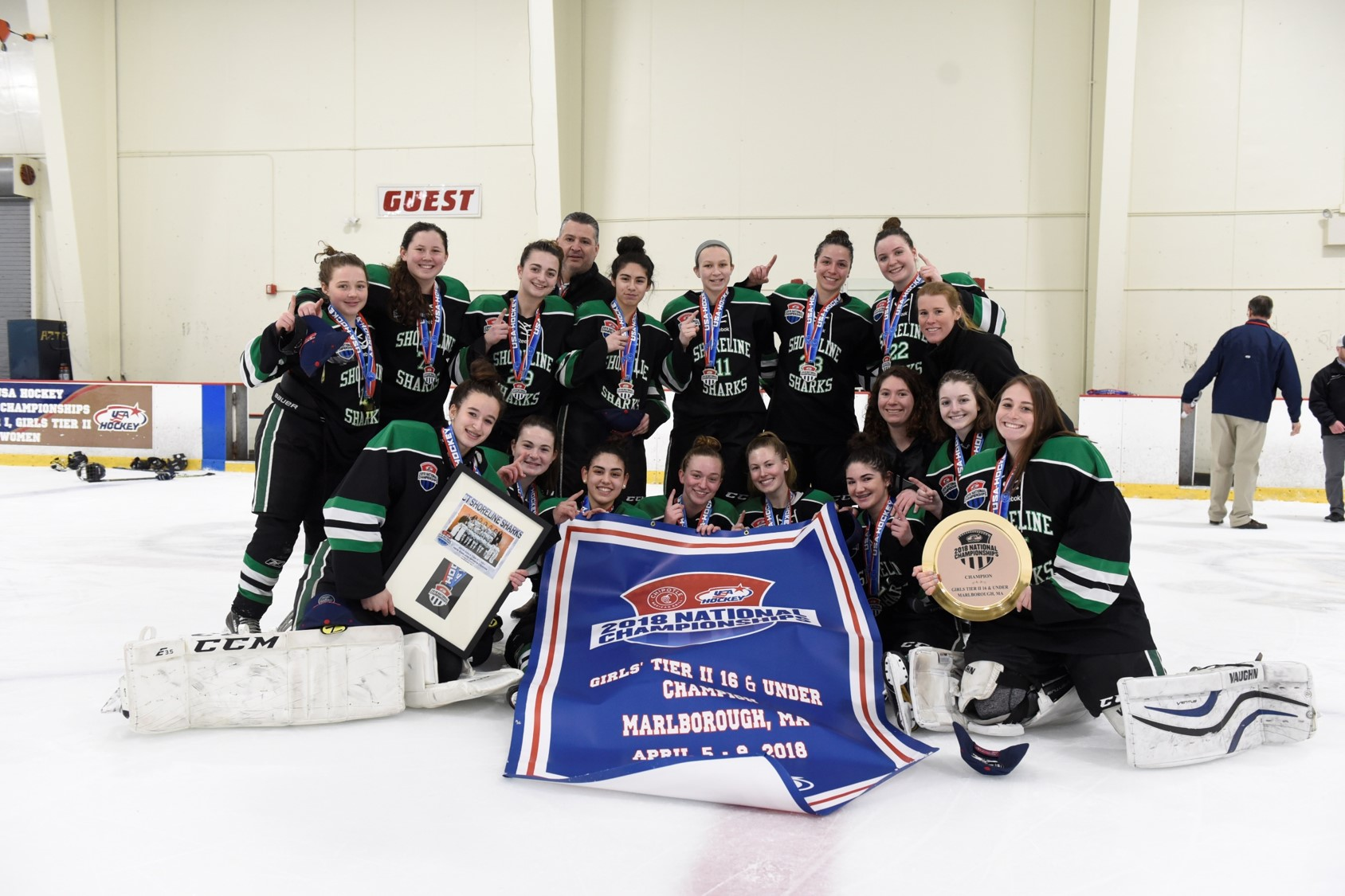 Shoreline SHarks 2018 USA Hockey Girls Tier II National Champions