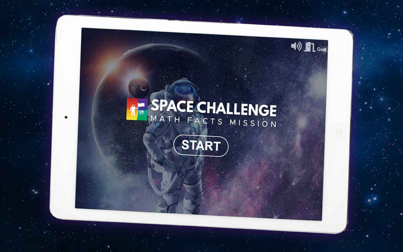 Space Challenge math facts game