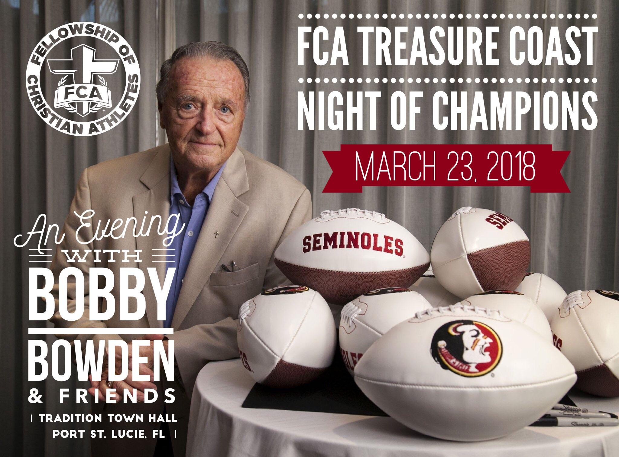 Sponsorship Opportunities & Ticket Info available at www.TreasureCoastFCA.org