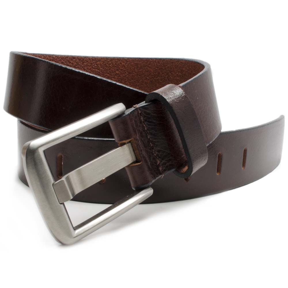 Titanium Wide Pin Brown Nickel Free Belt